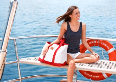 COAST beach bag red